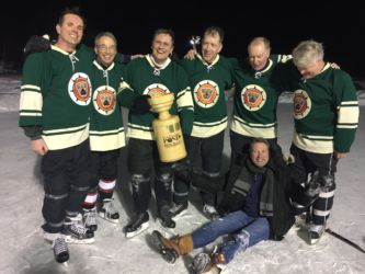 One of the championship teams for Pond Hockey 2017